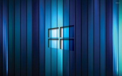 Windows 10 transparent logo on blue stripes [2] wallpaper - Computer wallpapers - #45957