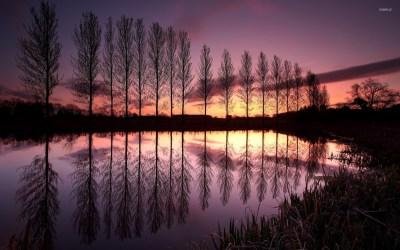 Lake during sunset, England wallpaper - Nature wallpapers - #25625