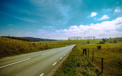 Road through Smaland, Sweden wallpaper - Nature wallpapers - #24486