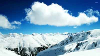 Snowy mountain top [2] wallpaper - Nature wallpapers - #16742