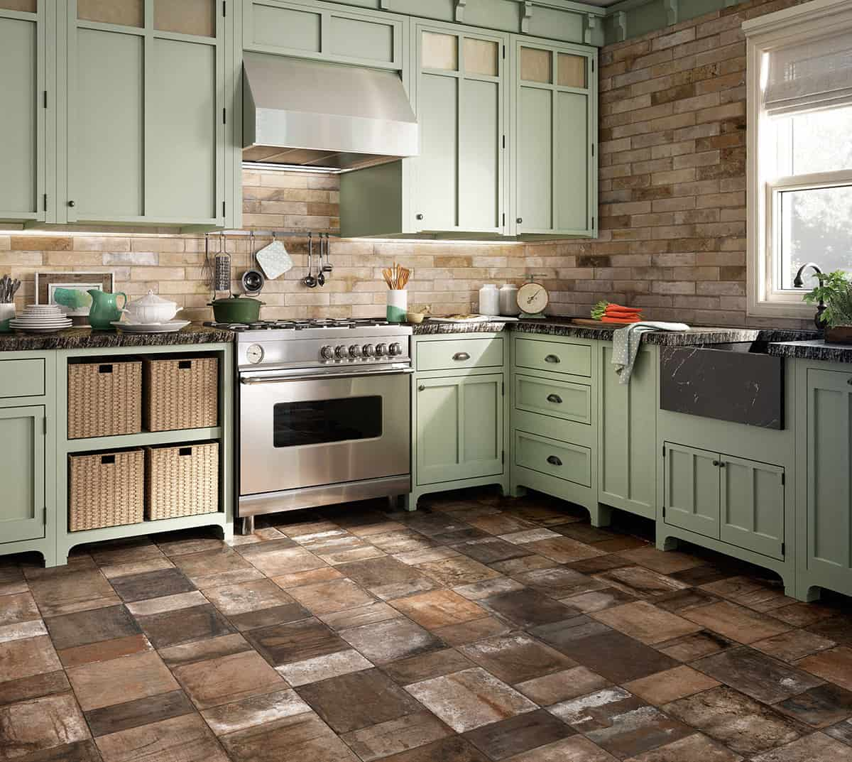 beautiful tile flooring ideas for living room kitchen bathroom designs kitchen tile flooring View in gallery terracotta effect flooring tile kitchen terre nuove santagostino