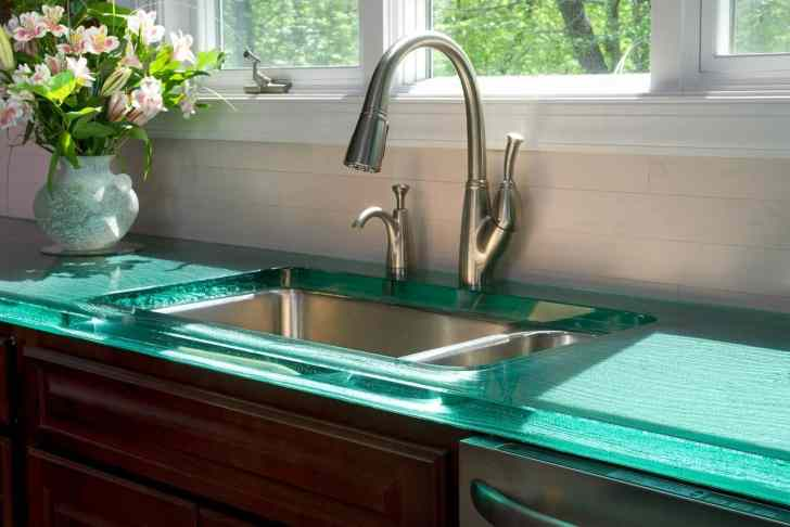 modern kitchen countertops from unusual materials kitchen countertops options View in gallery modern countertops unusual material kitchen glass 2