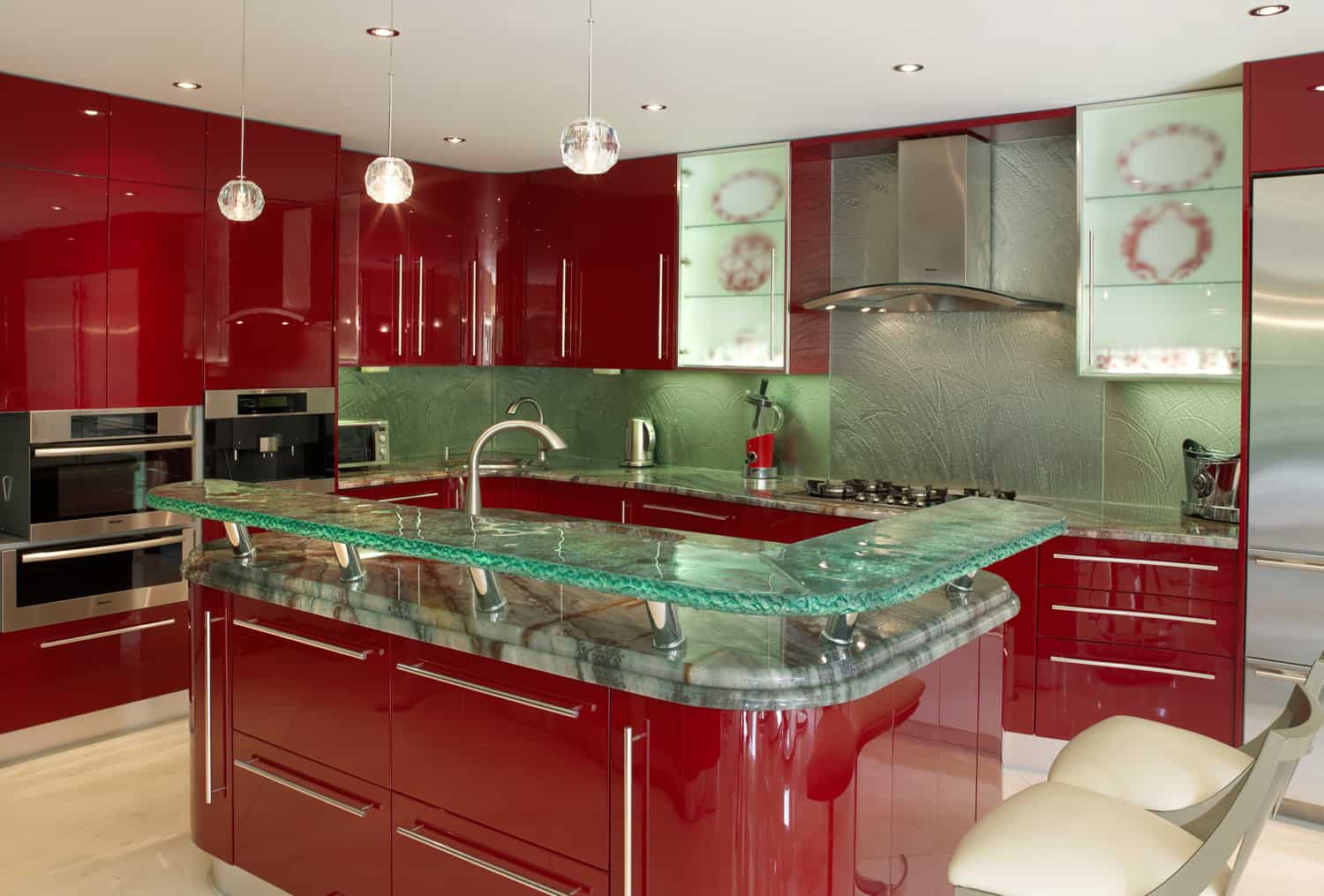 modern kitchen countertops from unusual materials kitchen countertops View in gallery modern countertops unusual material kitchen glass 3