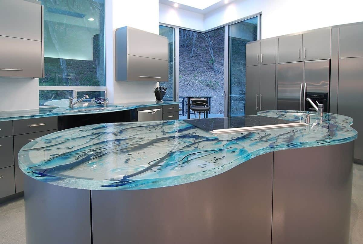 modern kitchen countertops from unusual materials kitchen countertop ideas View in gallery modern countertops unusual material kitchen glass 6