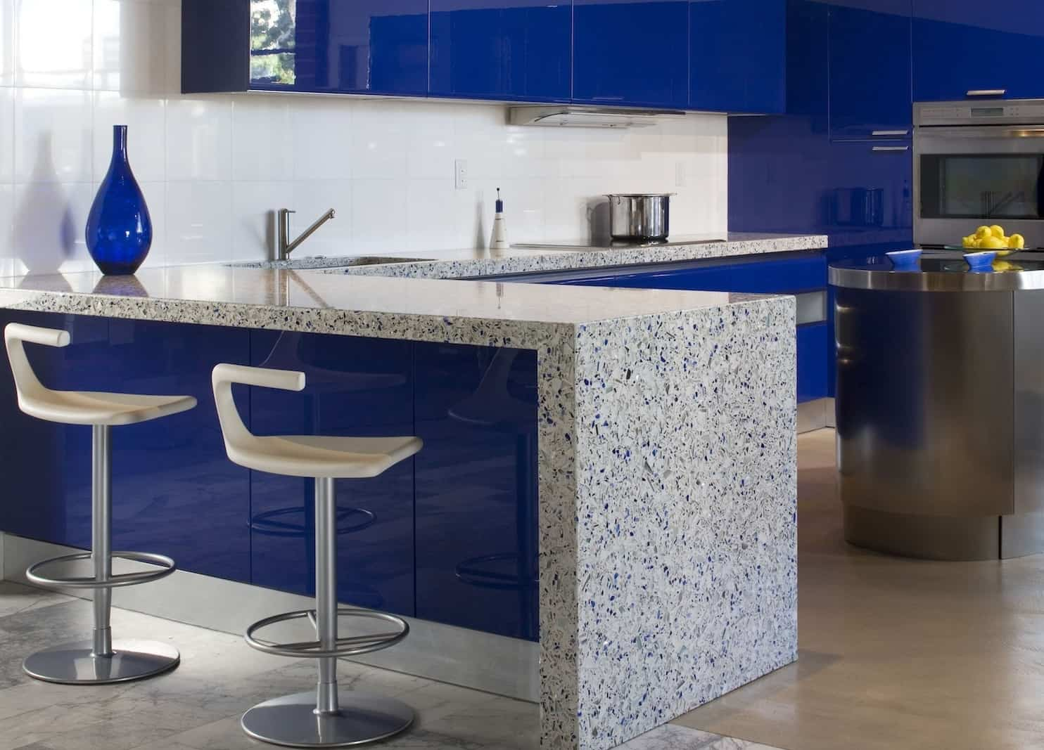 modern kitchen countertops from unusual materials kitchen countertop materials View in gallery modern countertops unusual material kitchen vetrazzo