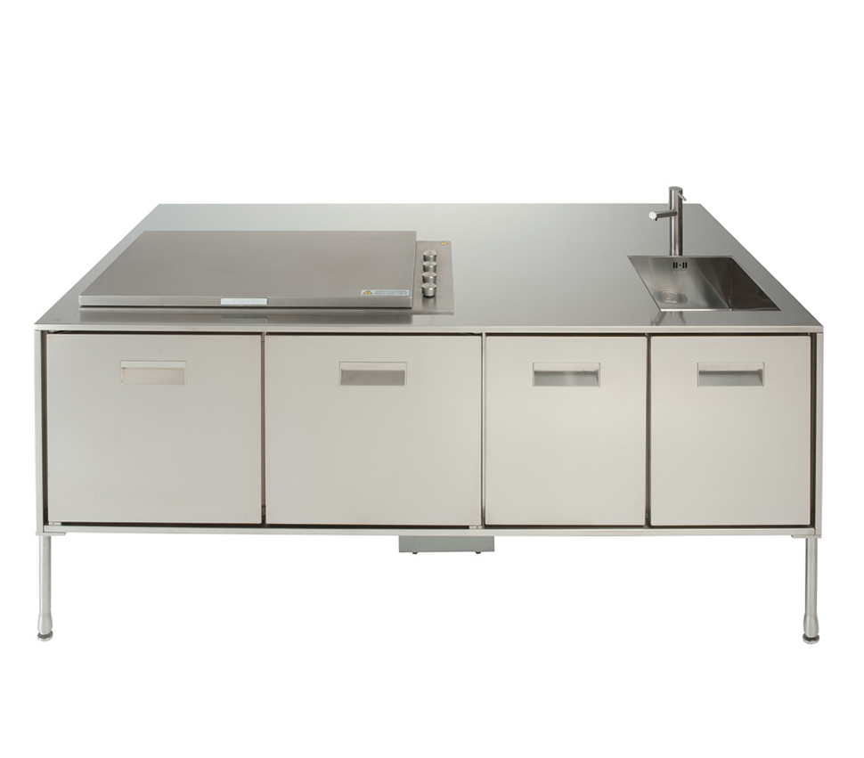 compact outdoor kitchen island artusi from arclinea outdoor kitchen island