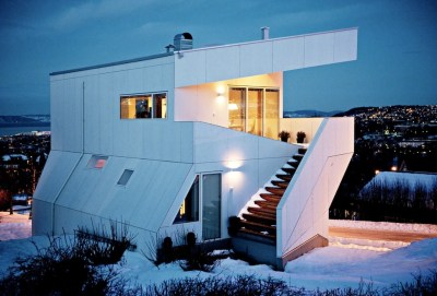 Geometric Norwegian House With Creative Interior Fixtures