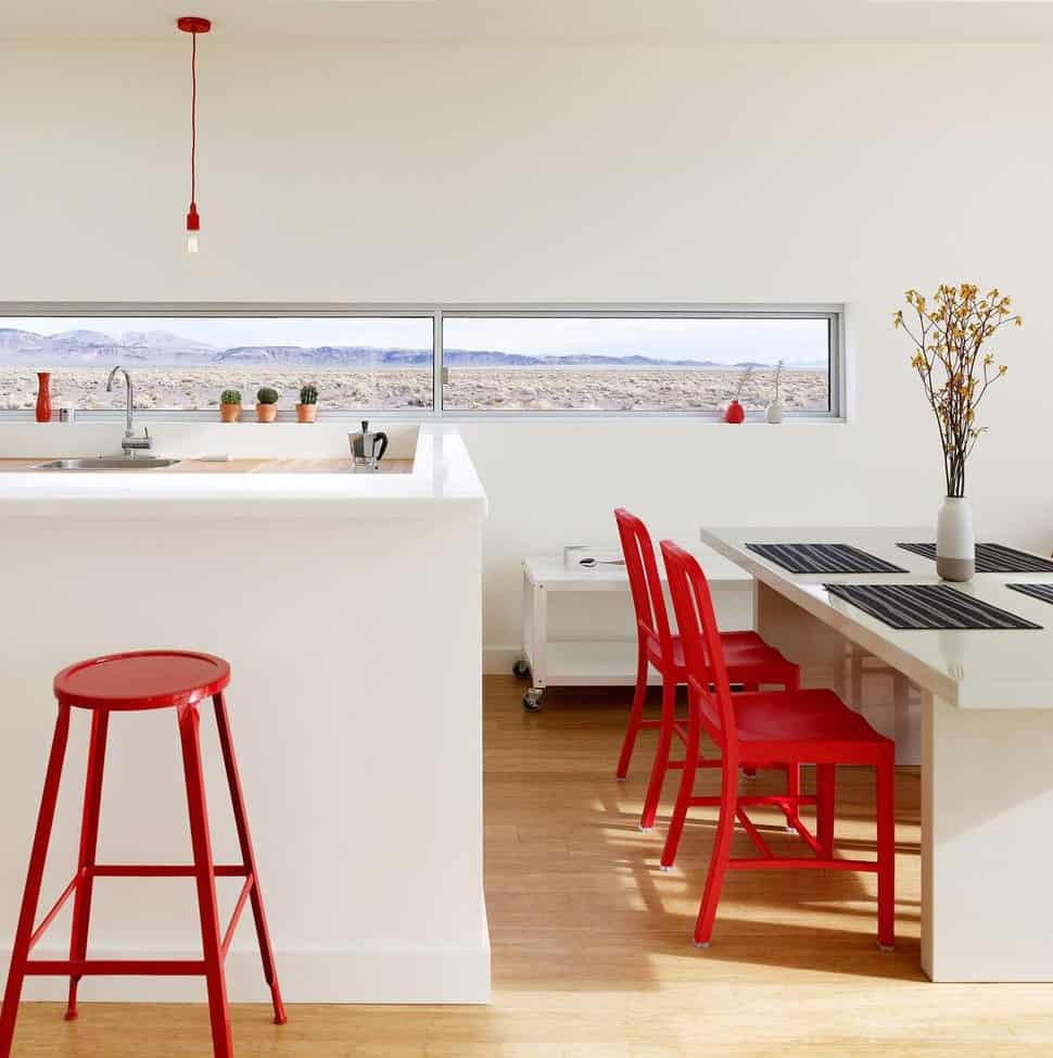 red chairs create drama with 11 trendy ideas red kitchen chairs View in gallery red chairs create drama 11 trendy ideas 12
