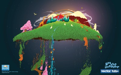 Organic Climate Changing Wallpaper by Ben the Illustrator