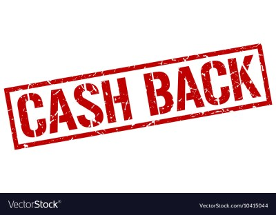 Cash back stamp vector by Aquir - Image #10415044 - VectorStock