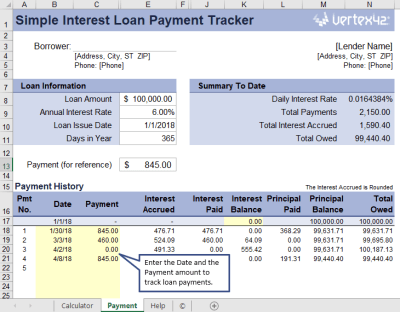 Simple Interest Loan Table | Brokeasshome.com