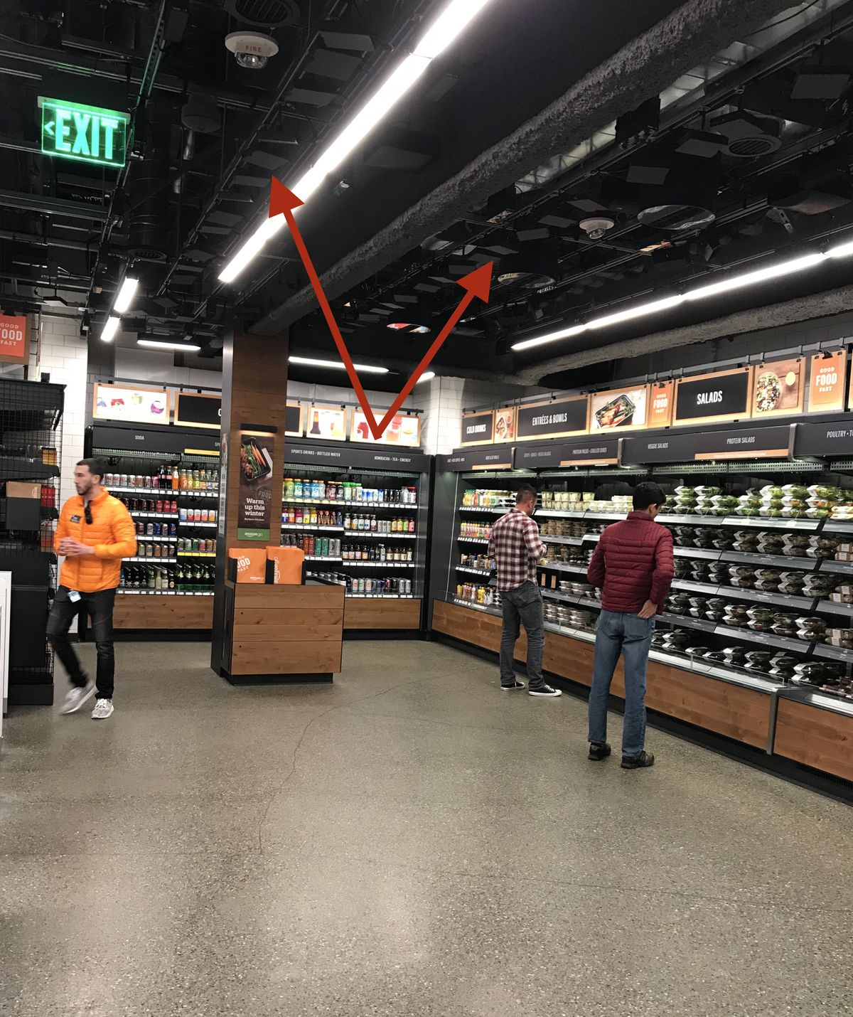 Amazon Go  a high tech version of a 7 Eleven  will finally open on     The inside of Amazon s new Go convenience store in Seattle