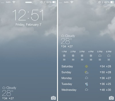 Forecast iOS 7 Animated Wallpapers - Weather for your Location on Lock Screen!