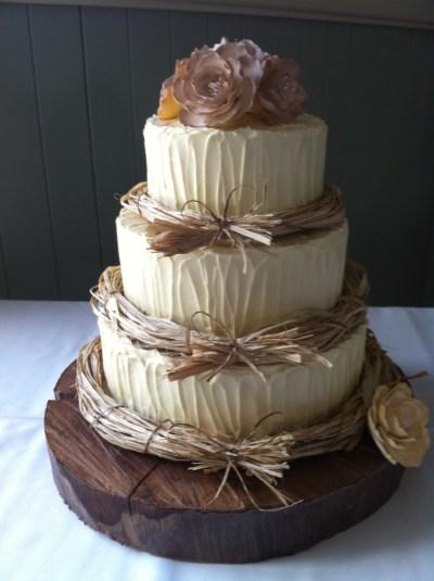 Rustic Wedding Cake - CakeCentral.com