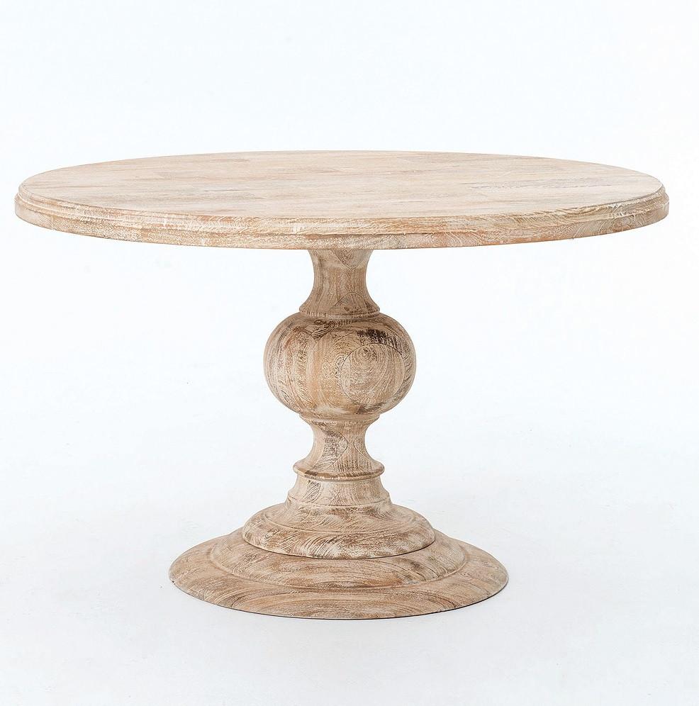 beach cottage kitchen dining tables round white kitchen table Rustic 48 Round Pedestal Dining Table