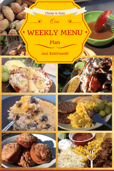 Weekly Meal Plans on a Budget | Cheap Weekly Menu & Shopping List for $7/Person/Day | Busy Budgeter