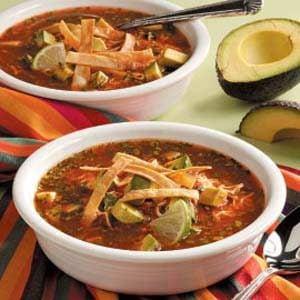 Mexican Tortilla Soup Recipe | Taste of Home