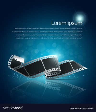 Camera film roll blue background Royalty Free Vector Image