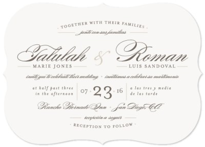 wedding invitations - Love Language at Minted.com