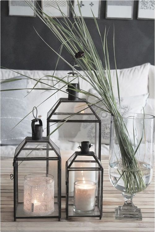 Decorating Lanterns Indoors  Like With Any Other Accessories When     use lanterns to light a walkway a staircase or place them on top a mantel  during the holidays filled with festive decorations you can also group them  and