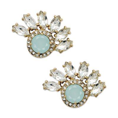 Juicy Couture Goldtone Cluster Fan Stud Earrings in Blue ...