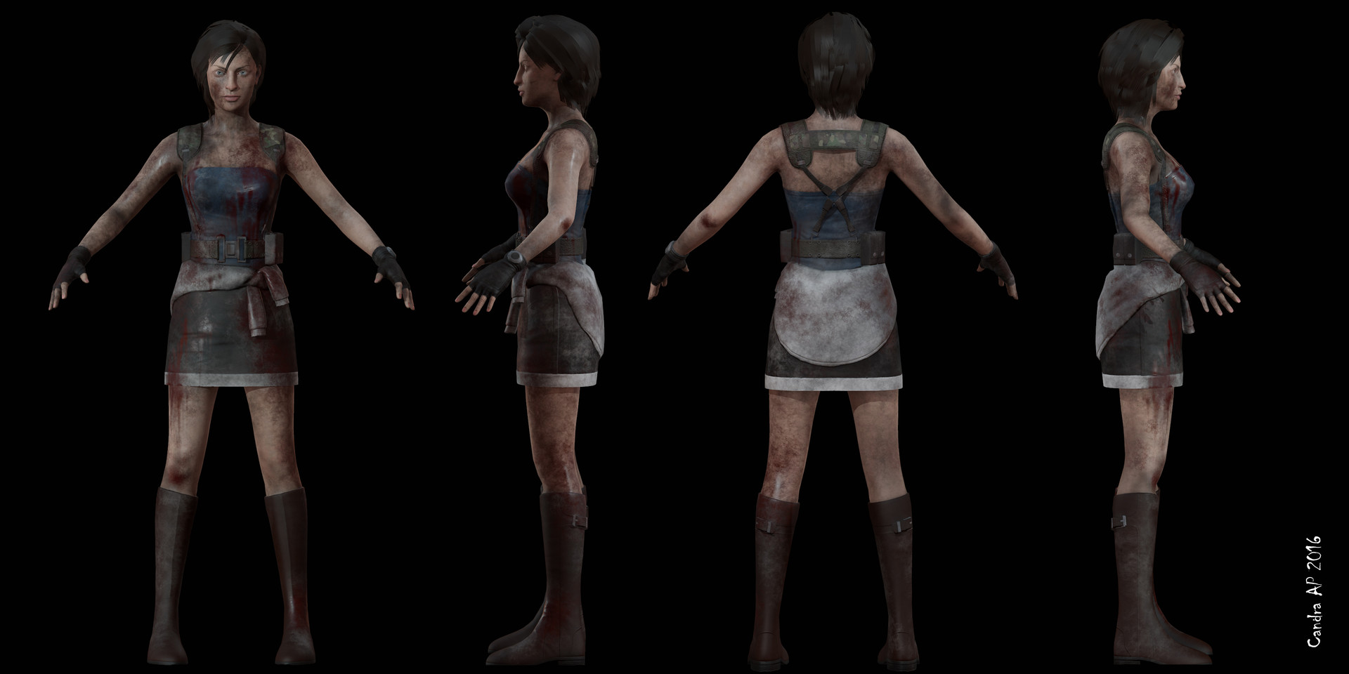 Candra Agung P - Resident Evil 3 Jill Valentine Fanart