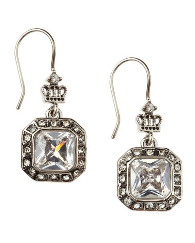 Juicy Couture Cz Drop Earrings in Silver (null)   Lyst