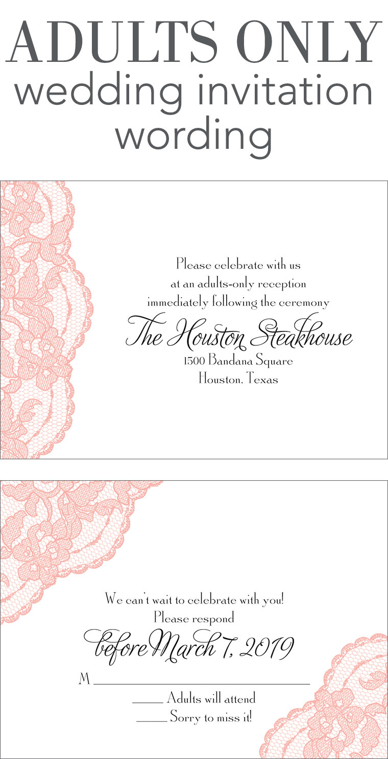 adults only wedding invitation wording wedding invitations examples Adults Only Wedding Invitation Wording
