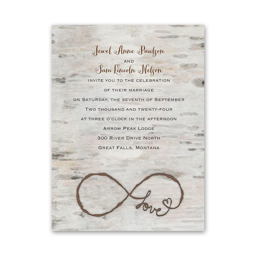 rustic wedding invitations photo wedding invitations Rustic Wedding Invitations Love for Infinity Petite Invitation