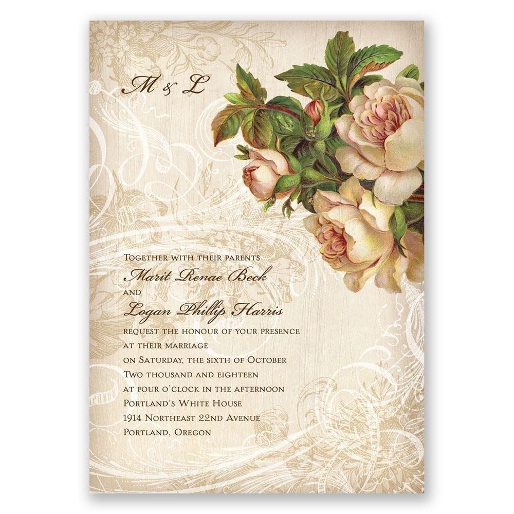 wedding invitations wedding invitations printing Boho Flowers Invitation