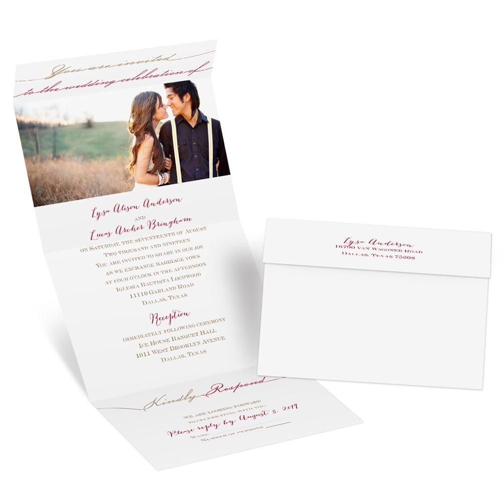 photo wedding invitations photo wedding invitations Photo Wedding Invitations Simply Inviting Seal and Send Invitation