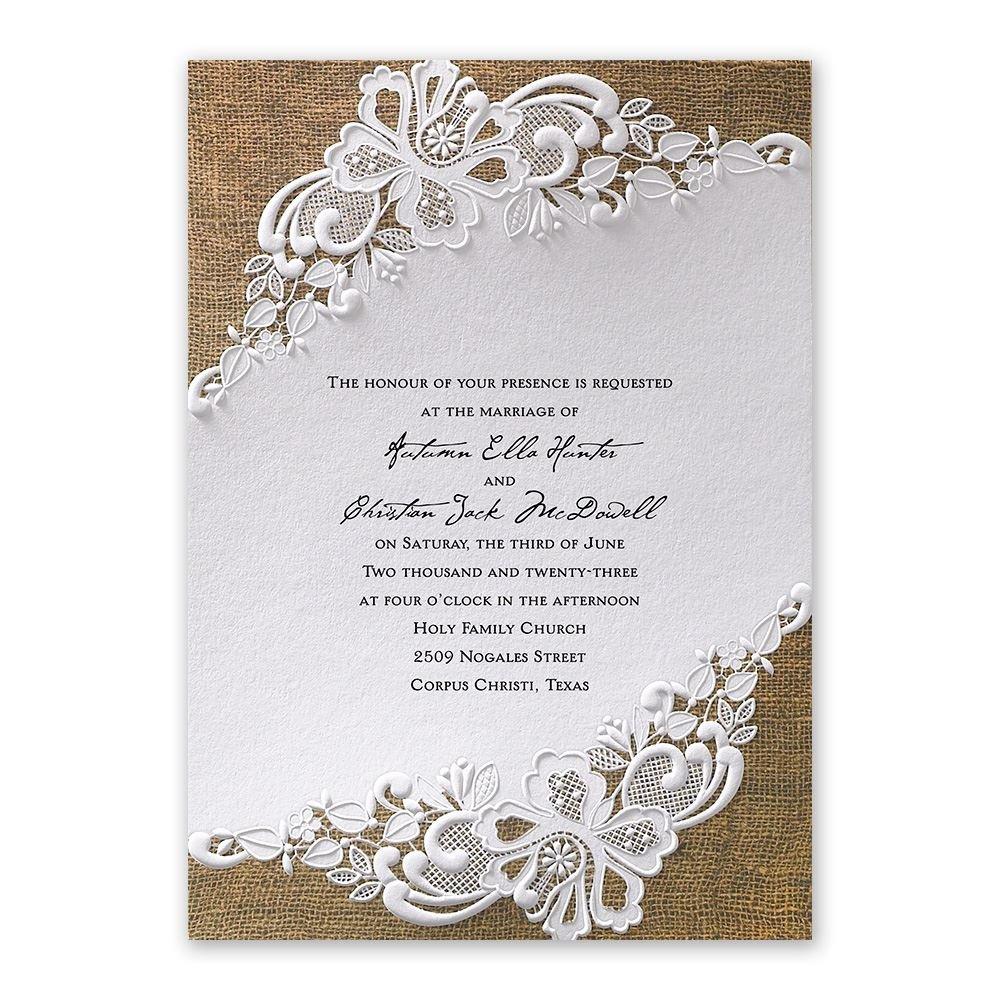 wedding invitations photo wedding invitations Lacy Dream Invitation