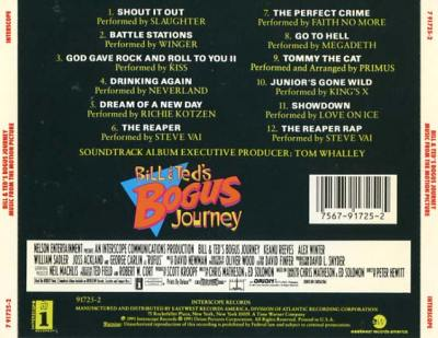 Bill & Ted's Bogus Journey Soundtrack (1991) - CD Sniper Reference Collection of Rare Movie ...