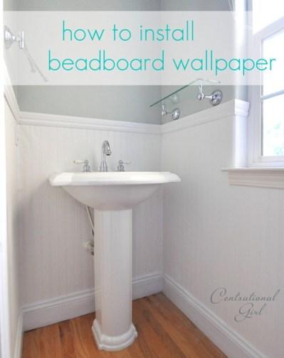 Installing Beadboard Wallpaper | Centsational Girl