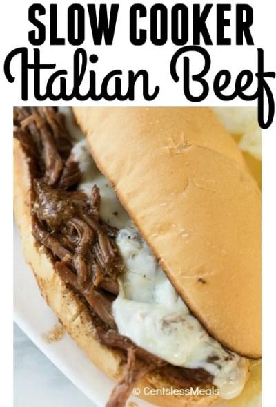 Crock Pot Italian Beef (Sandwiches) - CentsLess Meals