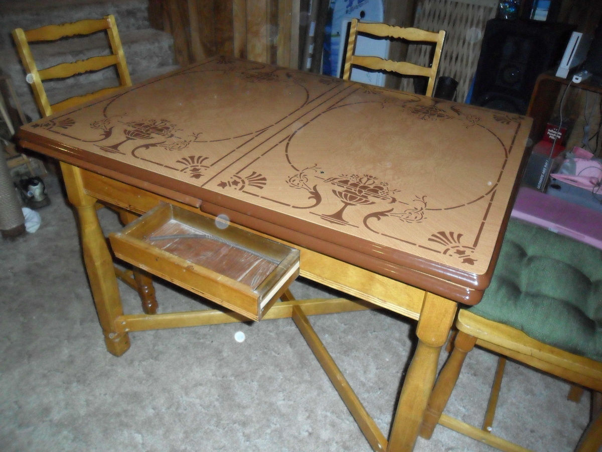 vintage metal top kitchen table vintage kitchen tables