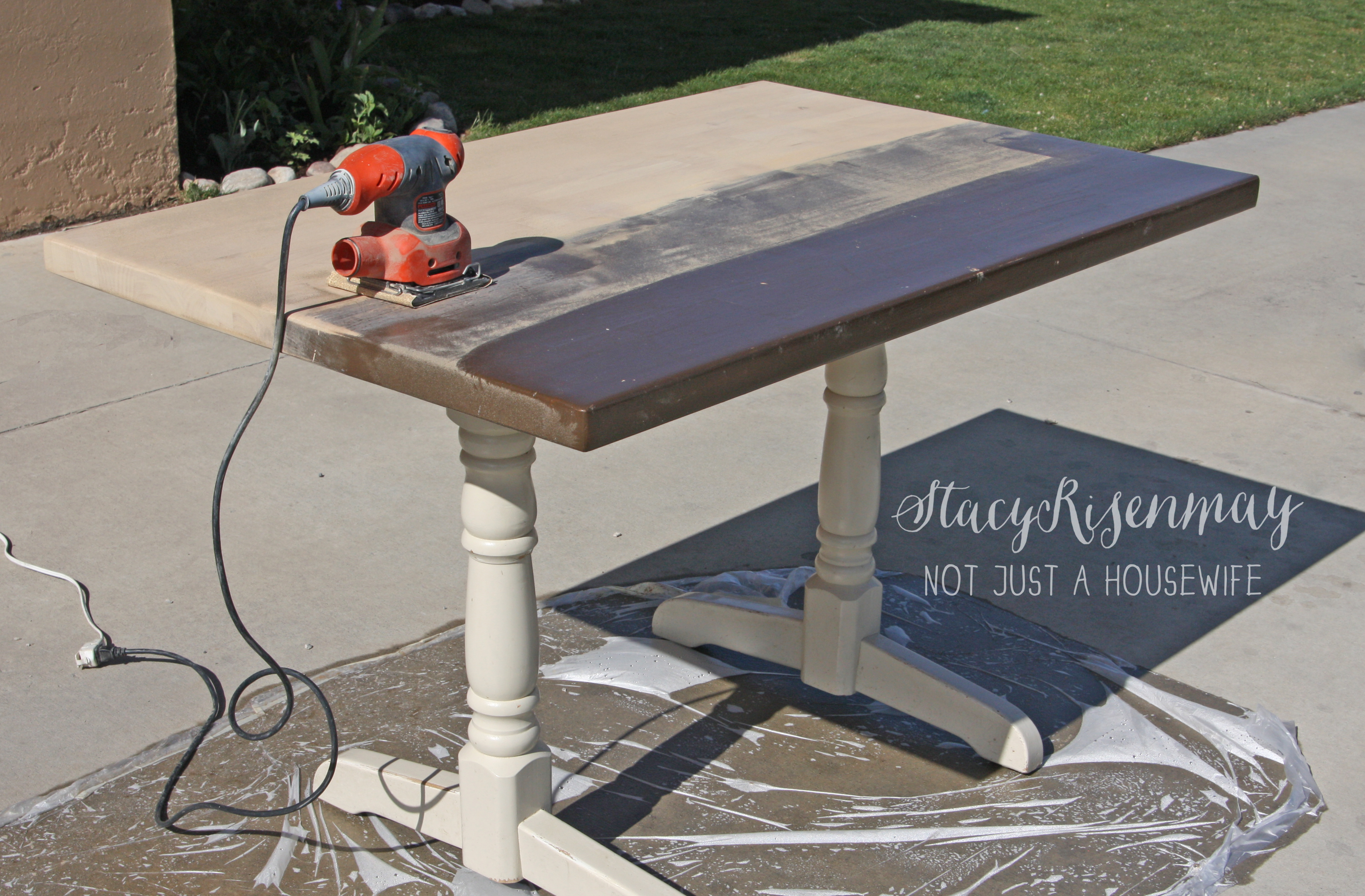 how to refinish a table refinishing kitchen table sand the table