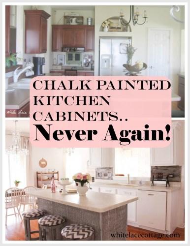 paint techniques before after chalk paint kitchen cabinets Chalk Painted Kitchen Cabinets Never Again