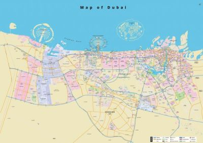 Dubai Map 2D | Souq - UAE