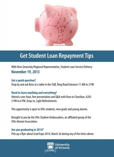 Get Student Loan Repayment Tips on Tues, Nov 19th at UVic « CFUV 101.9 FM in Victoria