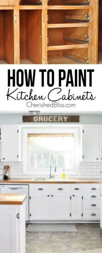 tips paint kitchen cabinets paint kitchen cabinets white Do you have ugly kitchen cabinets that need a makeover This tutorial shows you How