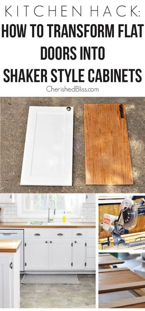 kitchen hack diy shaker style cabinets shaker style kitchen cabinets With this Kitchen Hack you will be able to transform your flat doors into shaker style