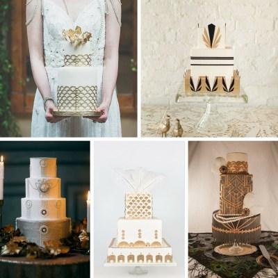 20 Deliciously Decadent Art Deco Wedding Cakes : Chic ...