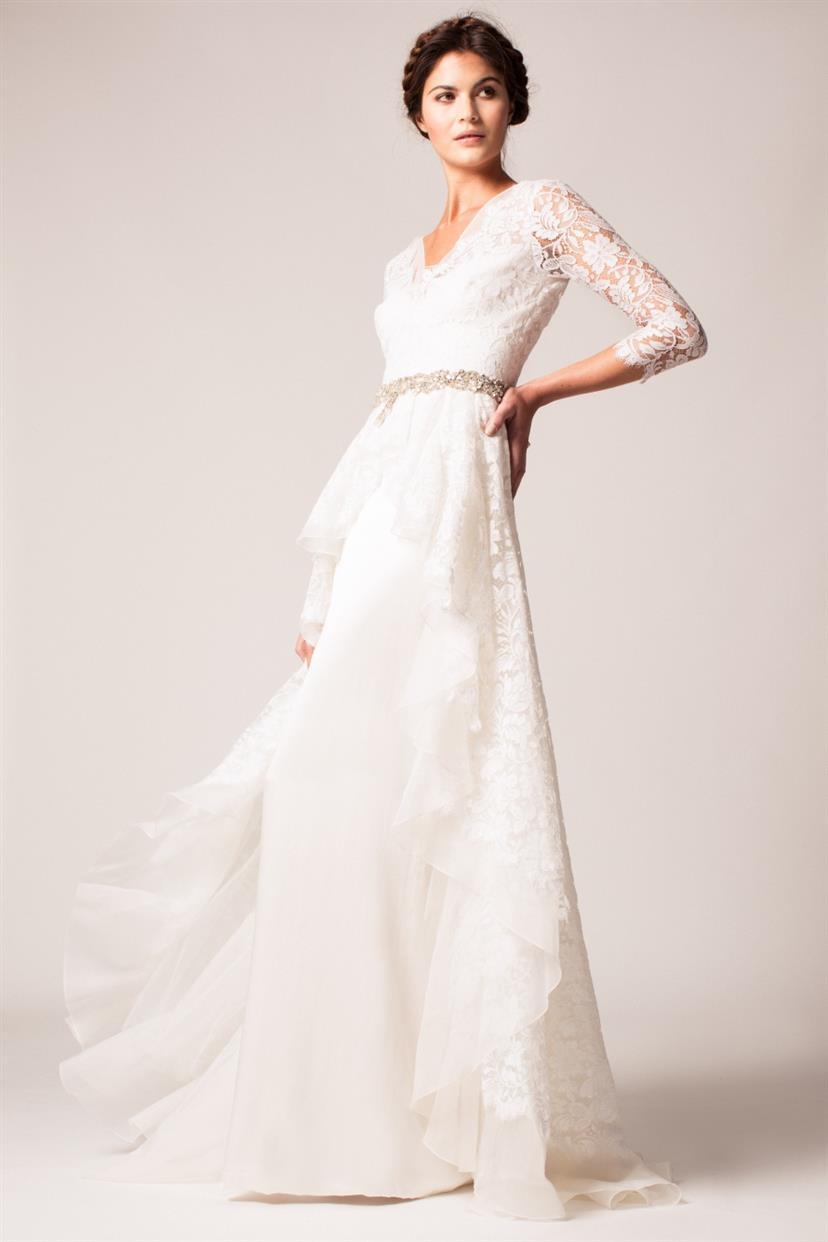 long sleeve wedding dresses sleeved wedding dress Temperley London Long Sleeve Wedding Dress Posey