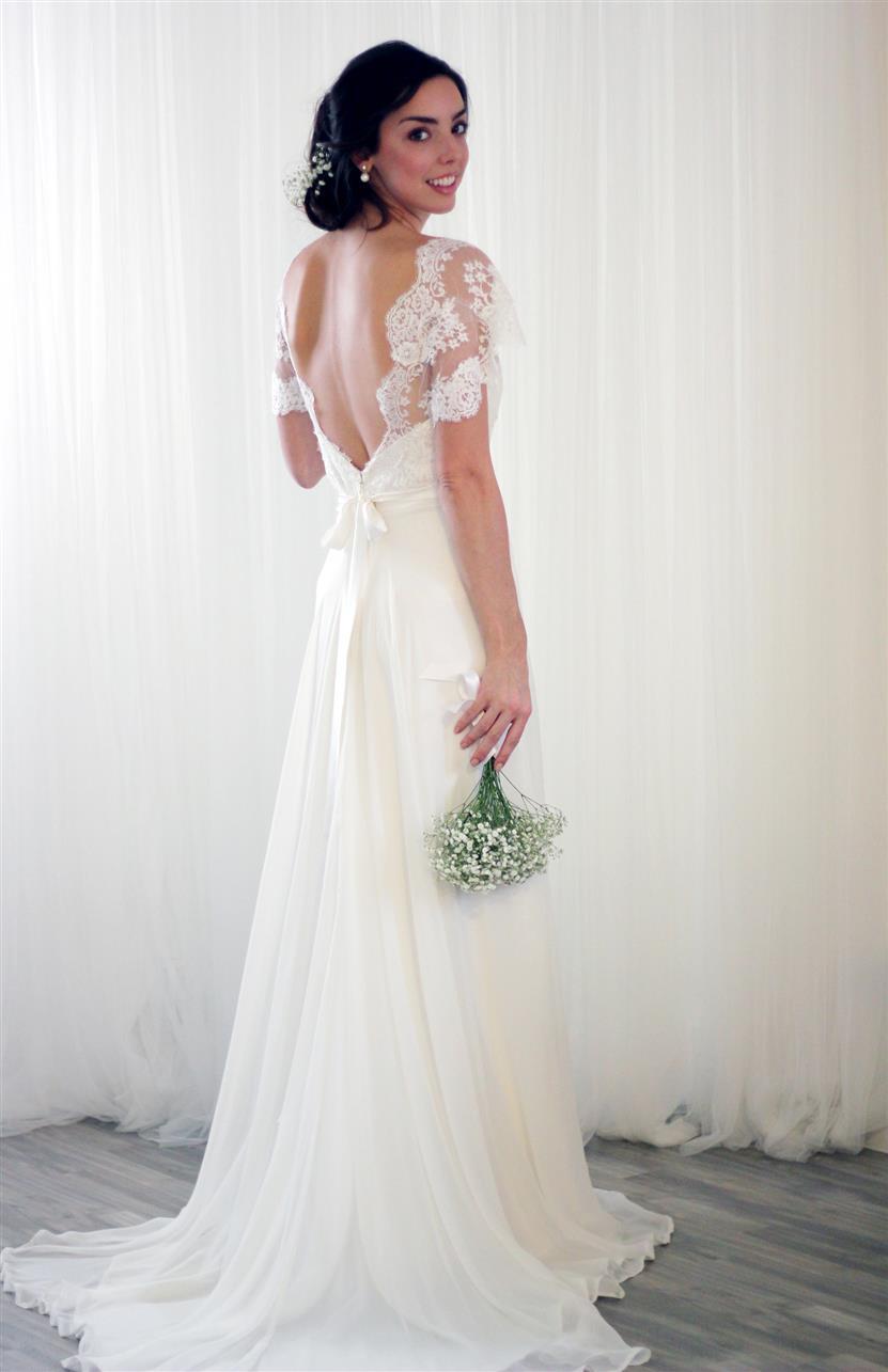 vintage wedding dresses rose delilah lace top wedding dress Rose Delilah s Bridal Collection Rose Top with Delilah Skirt