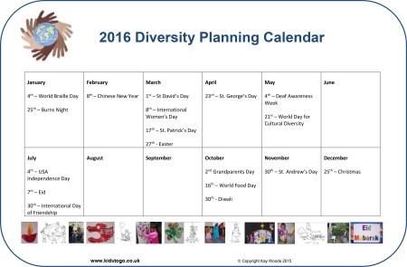 Diversity Planning Calendar