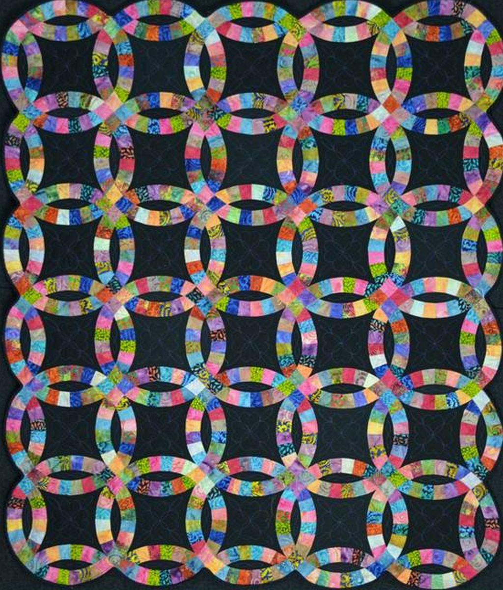 batik double wedding ring quilt wedding ring quilt pattern Batik Double Wedding Ring