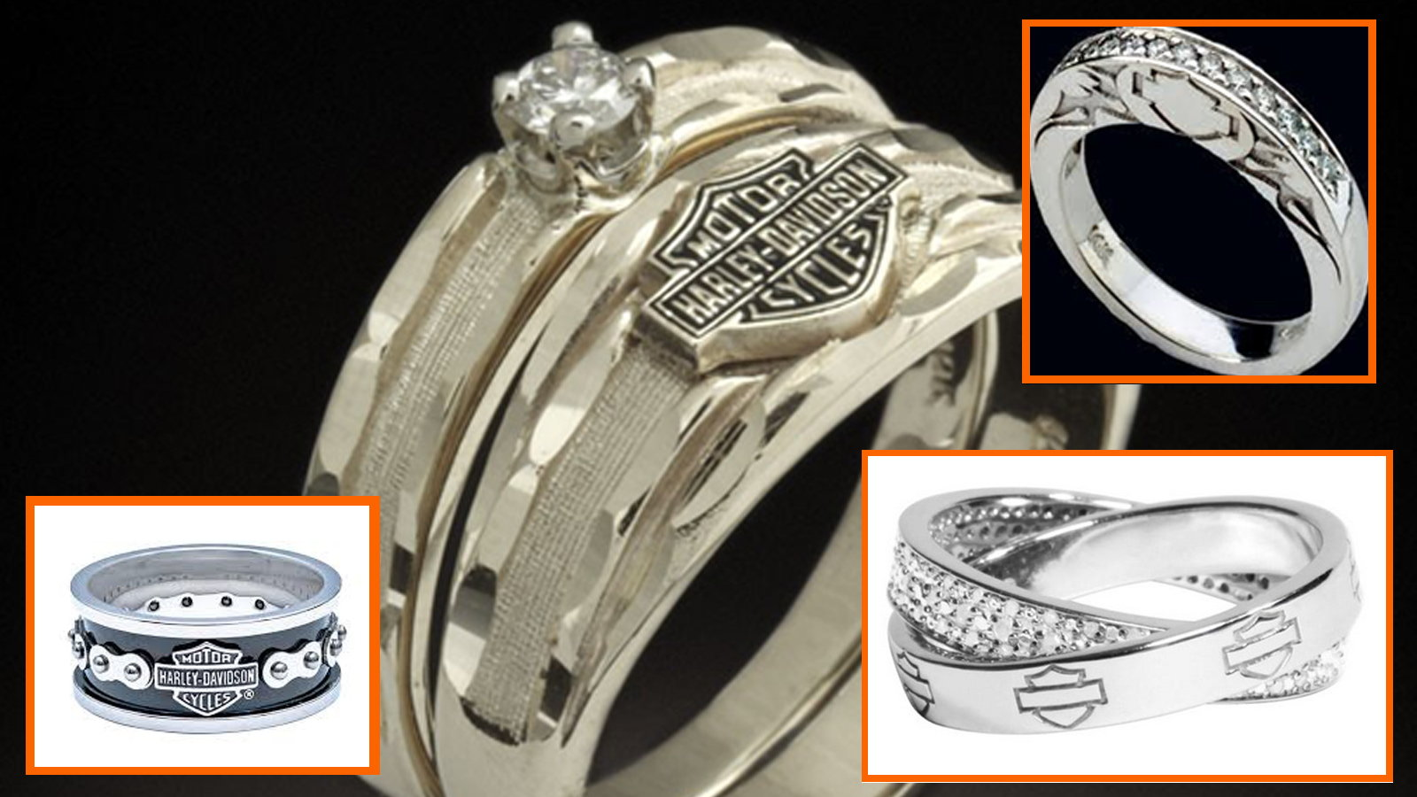 11 things you need for a harley davidson themed wedding harley davidson wedding rings Wedding rings are something personal for a couple If Harley Davidson is what brought you two together why not remember it forever by wearing it on your