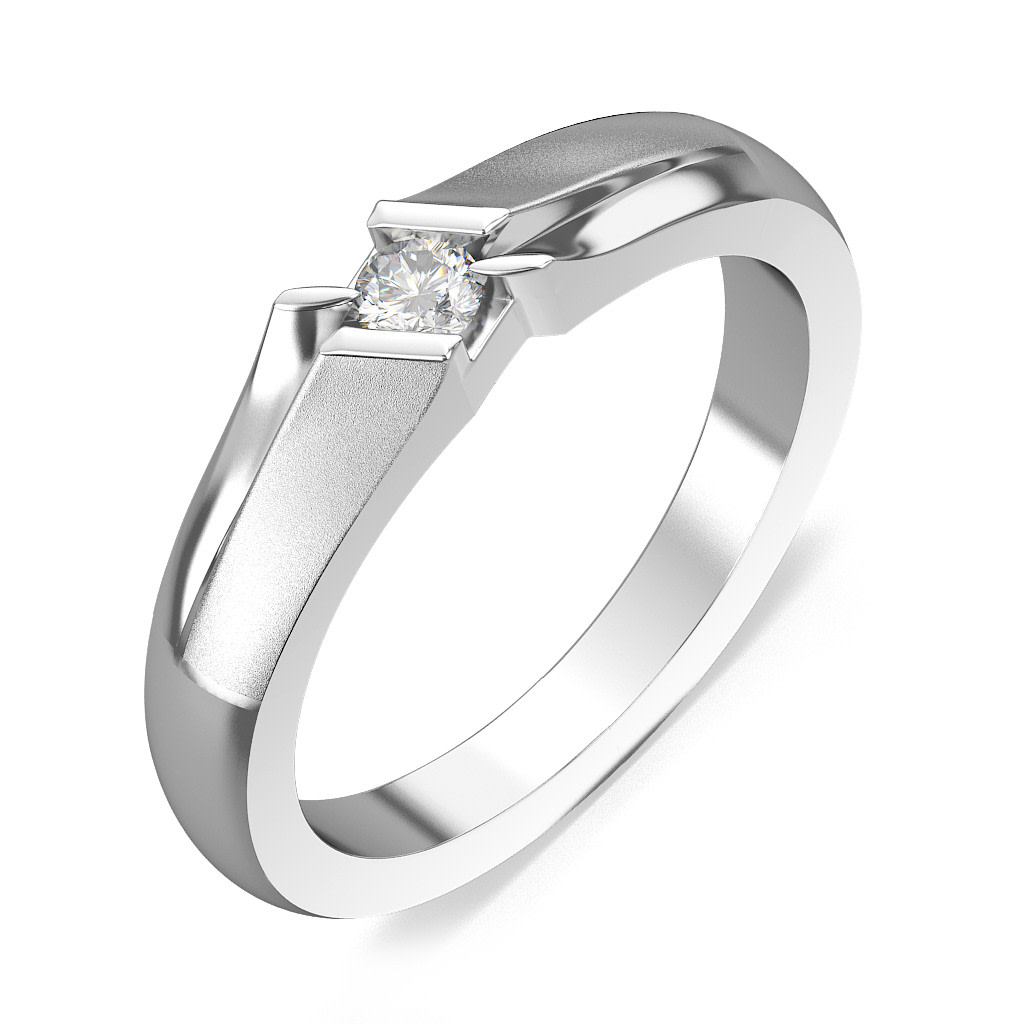 platinum rings men wedding ring The Candide Love Band for Him