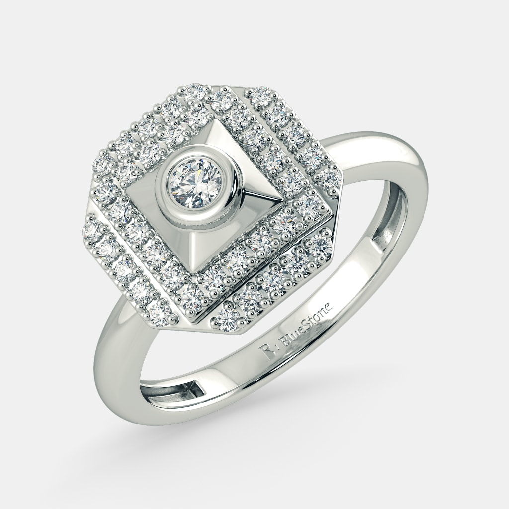 white+gold rings wedding ring The Lady Loveine Ring